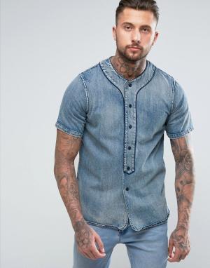Diesel Джинсовая рубашка D-BOW. Цвет: синий