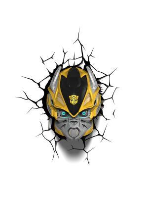 Пробивной 3D светильник TRNSFMR- Bumble Bee (Бамблби) Transformers. Цвет: черный, желтый, золотистый, серебристый