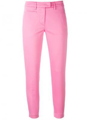 Укороченные брюки-чинос Dondup. Цвет: розовый и фиолетовый