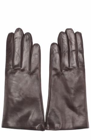 Кожаные перчатки Sermoneta Gloves. Цвет: темно-коричневый