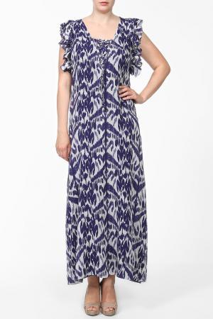 Платье For.Me Elena Miro. Цвет: принт синий, белый