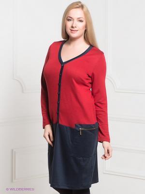 Платье Gemko plus size. Цвет: красный, темно-синий