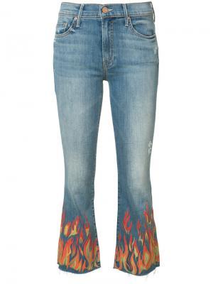 Потертые укороченные джинсы Insider Mother. Цвет: синий
