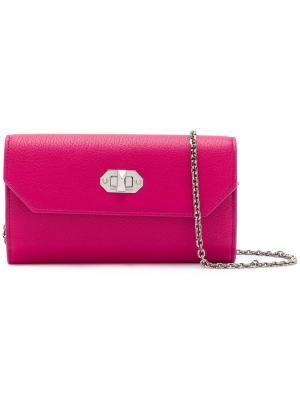 Кошелек на цепочке Alexander McQueen. Цвет: розовый и фиолетовый