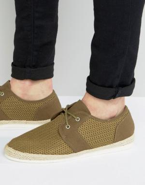 KG Kurt Geiger Сетчатые туфли цвета хаки By. Цвет: зеленый
