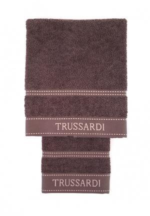 Комплект полотенец 2 шт. Tru Trussardi. Цвет: коричневый