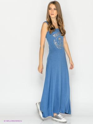 Платье Lynne. Цвет: синий