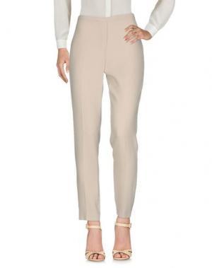 Повседневные брюки ELIE TAHARI. Цвет: бежевый