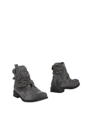 Полусапоги и высокие ботинки FELMINI. Цвет: серый