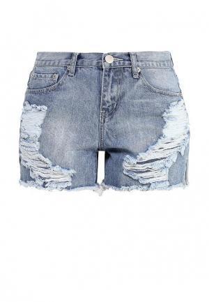 Шорты джинсовые Glamorous. Цвет: голубой