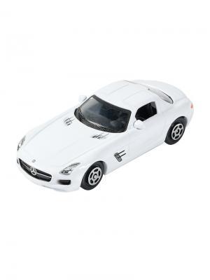 Машинка Mercedes-Benz SLS AMG, Белая (1:64) (PS-0616604-W) Pit Stop. Цвет: белый