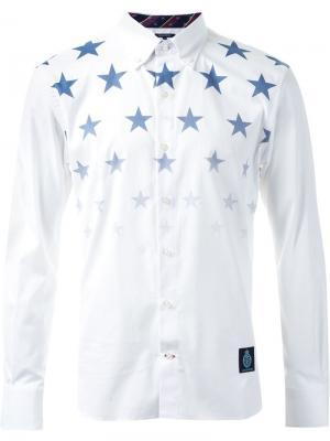 Рубашка с принтом звезд Guild Prime. Цвет: белый