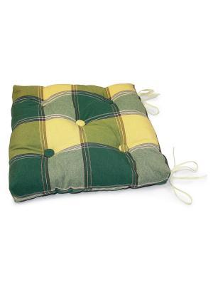 Подушка на стул Kauffort. Цвет: зеленый, желтый