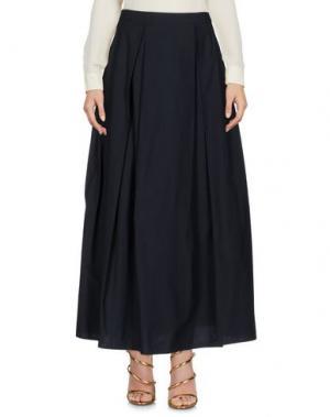 Длинная юбка TER ET BANTINE. Цвет: темно-синий