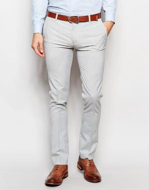 ASOS Супероблегающие брюки бледно-серого цвета. Цвет: серый