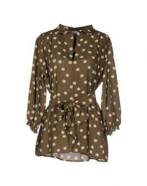 Блузка ANGELA MELE MILANO. Цвет: зеленый-милитари