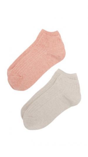 Набор из меланжевых низких носков в рубчик Madewell