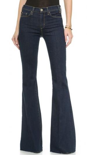 Расклешенные джинсы Majorelle McGuire Denim. Цвет: когда небеса упали на землю