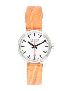 Наручные часы MONDAINE. Цвет: оранжевый