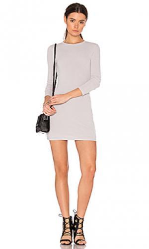 Мини-платье с длинным рукавом hacci BLQ BASIQ. Цвет: серый