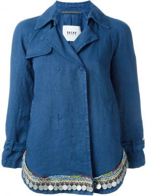 Декорированная  куртка Bazar Deluxe. Цвет: синий