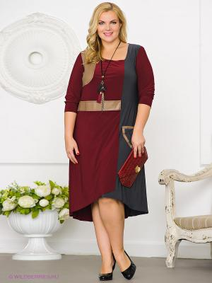 Платье Gemko plus size 13000/BORDO