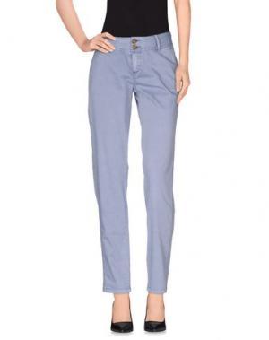 Повседневные брюки TIMEOUT. Цвет: грифельно-синий