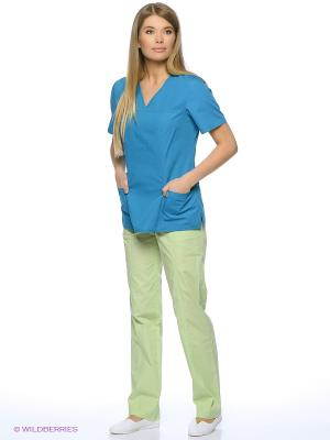 Блузка медицинская Med Fashion Lab. Цвет: бирюзовый