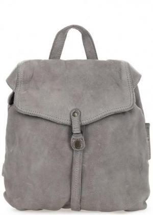 Кожаный рюкзак серого цвета на тонких лямках aunts & uncles. Цвет: серый