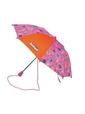 Зонт SCOUT ЛЕТНЕЕ НАСТРОЕНИЕ. Цвет: розовый