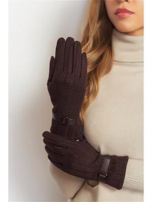 Перчатки Abby. Цвет: темно-коричневый