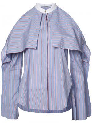 Рубашка с открытыми плечами Rosetta Getty. Цвет: синий