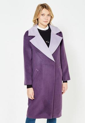 Пальто TrendyAngel. Цвет: фиолетовый