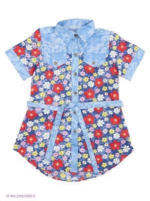 Рубашка LORICCI. Цвет: синий, красный