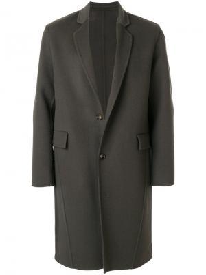 Однобортное пальто Harmony Paris. Цвет: серый