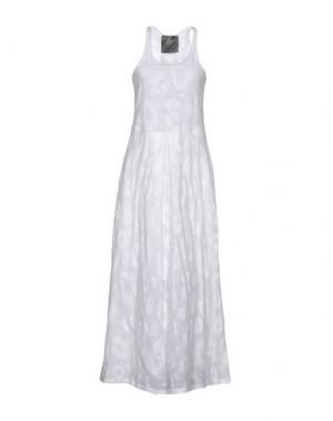 Длинное платье ES'GIVIEN. Цвет: белый