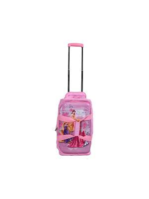 Детская спортивная сумка на колесиках, серия Disney, Принцессы Heys USA. Цвет: розовый
