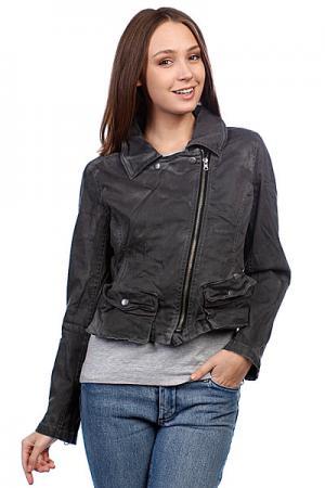 Куртка кожаная женская  Assymetrical Moto Jacket Black Converse. Цвет: серый
