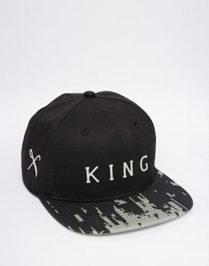 King Apparel Бейсболка 8 Bit. Цвет: черный