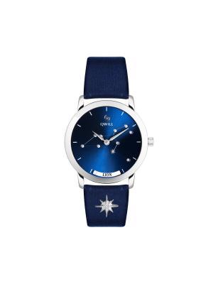 Часы ювелирные лимитированная коллекция Galaxy Lion-Лев QWILL. Цвет: синий