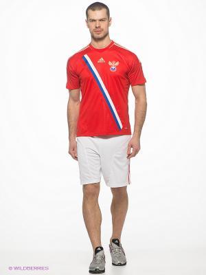 Шорты Adidas. Цвет: белый, красный