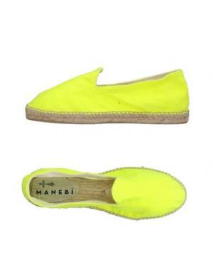 Эспадрильи MANEBÍ. Цвет: желтый