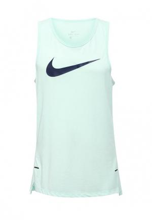 Майка спортивная Nike. Цвет: бирюзовый
