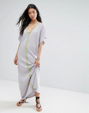 Pitusa Пляжное платье Pima Abaya. Цвет: серый