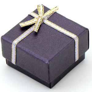 Подарочная коробка под кольцо  УП-176 Бусики-Колечки. Цвет: фиолетовый