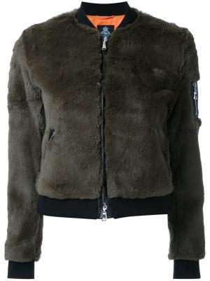 Укороченная куртка-бомбер Guild Prime. Цвет: зелёный