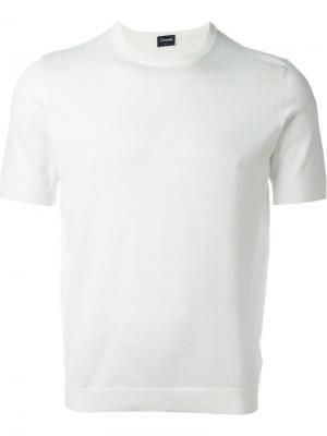 Трикотажная футболка Drumohr. Цвет: белый