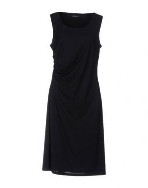 Платье до колена EMISPHERE. Цвет: темно-синий