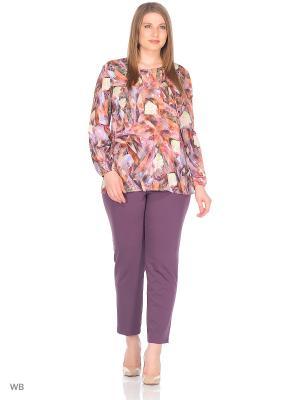 Блузка BARTELLI. Цвет: сиреневый, коричневый, рыжий