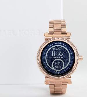 Michael Kors Смарт-часы цвета розового золота Access MKT5022 Sofie. Цвет: золотой